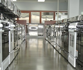 Appliances appear brighter with a polished concrete floor. (thumbnail)