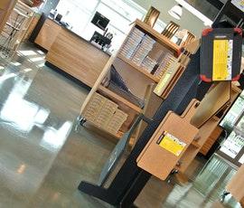 Wustof Cutlery has an impressive metallic epoxy concrete floor coating installed. (thumbnail)