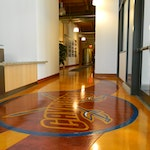 Concrete microtopping for flooring-Cleveland Caveliers