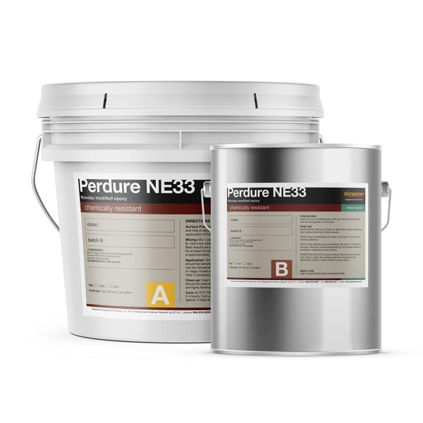 Perdure NE33 100% solids Novolac epoxy coating chemically resistant