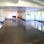 The Hawkins residence: Concrete floor using a concrete overlay from Duraamen. Image 08