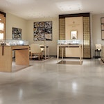 """Polished concrete floor in the Tiffany & Co. """"pop-up"""" store in NYC. 12"""