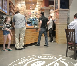 Patrons of this coffee shop in NYC love the Skraffino resurfaced concrete flooring. (thumbnail)