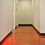 Image of metallic epoxy flooring in a chiropractic clinic 02