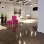 Concrete microtopping for flooring-furniture store