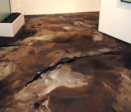 Around every corner is a work of art, and metallic epoxy flooring. (thumbnail)