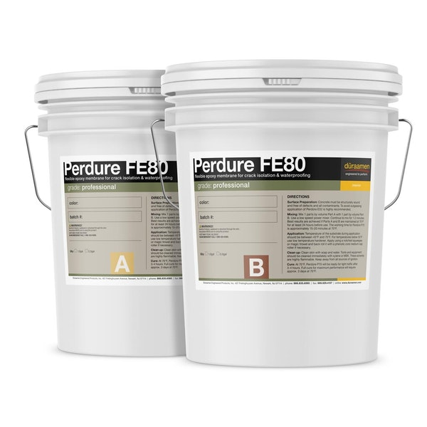 Perdure FE80 Flexible Epoxy Membrane for Crack Isolation and Waterproofing