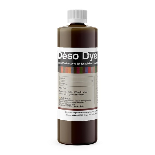 Deso Dye solvent / water-based dye for interior polished concrete floors