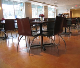 Heinen's grocer in Hudson, Ohio chose polished concrete flooring for their cafeteria. (thumbnail)