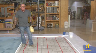 Installing Polished Concrete over Radiant Heating