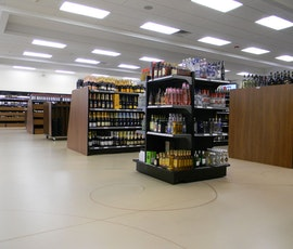 This wine store's flooring was resurfaced with a premium concrete microtopping from Duraamen. (thumbnail)