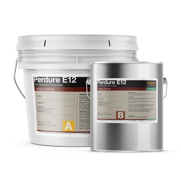Perdure E12  100% solids epoxy flooring glaze
