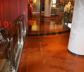 Another view of the metallic epoxy flooring in the Cleveland Cavaliers Team Shop. (thumbnail)