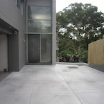Image 07 | This polished concrete floor was installed with a sprayable concrete floor system