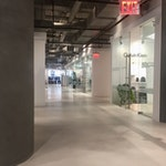Image 05 | This polished concrete floor was installed with a sprayable concrete floor system