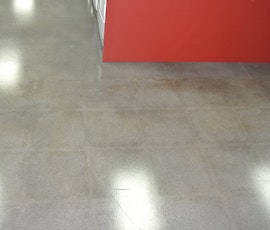 A detail photo of the polished concrete flooring. (thumbnail)