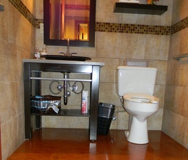This flooring is a great option for even bathrooms. (thumbnail)