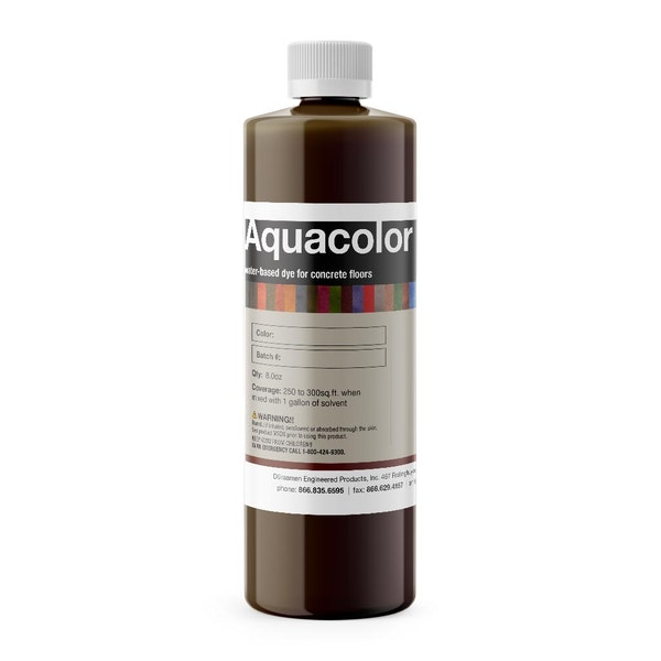 Aquacolor water based stain for concrete surfaces (integral & topical)