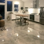 DIY: Homeowner Installs Designer Metallic Epoxy Floor Coating Throughout Home. ex. 3