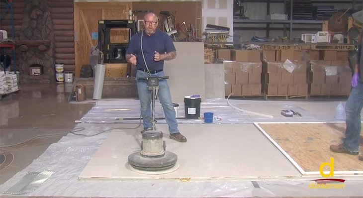 How to encapsulate vinyl tile with concrete topping | Part 2/3