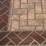 Herringbone Header Concrete Stencil ex. 1