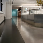 """Polished concrete floor in the Tiffany & Co. """"pop-up"""" store in NYC. 13"""