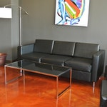 Image of metallic epoxy flooring in a chiropractic clinic 01
