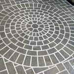 Large Brick Rosette Concrete Stencil ex. 2