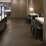 """Polished concrete floor in the Tiffany & Co. """"pop-up"""" store in NYC. 10."""