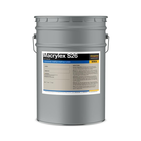 Macrylex S26 methyl methacrylate resin topcoat