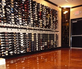 What better flooring for a wine store than the high end appearance of metallic epoxy. (thumbnail)
