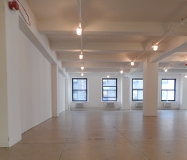 The spacious retail space benefits from having a polished concrete flooring. (thumbnail)