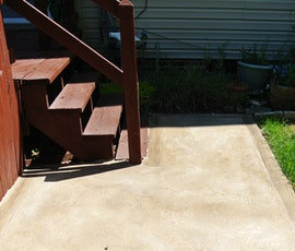 Patios and exterior stair landings are candidates for concrete resurfacing. (thumbnail)