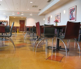 This decorative polished concrete floor belongs to Heinen's grocery store in Hudson, OH. (thumbnail)