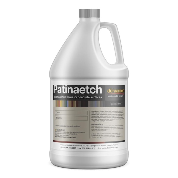 Patinaetch chemical (acid) stain for concrete surfaces