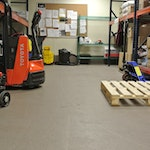 This flooring looks great and is perfect for the high volume activity of this commercial space. (thumbnail)