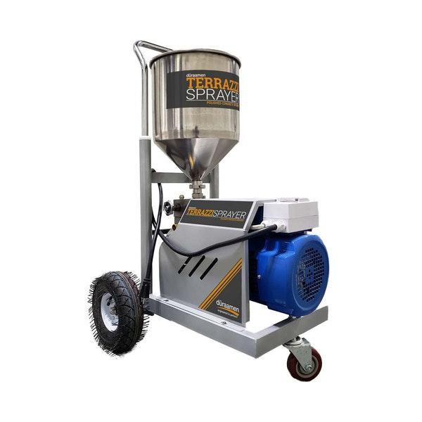 Terrazzi Concrete Sprayer polished concrete sprayer — the evolution of concrete floor resurfacing
