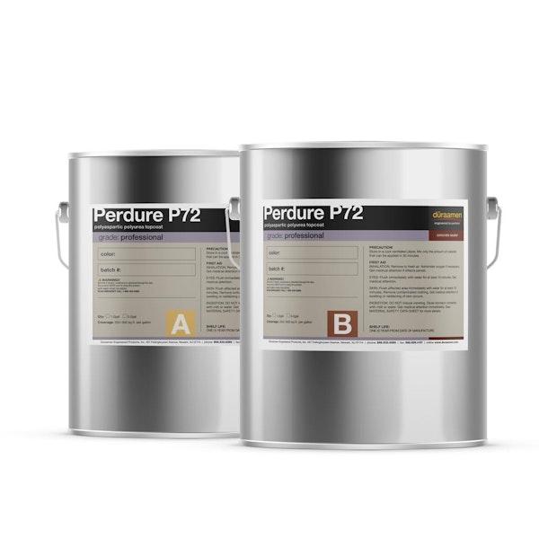 Perdure P72 polyaspartic polyurea topcoat