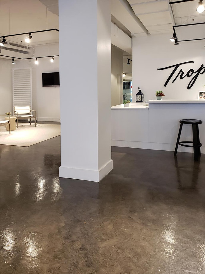 Microtopping Floors in Retail Furniture Stores ex. 2