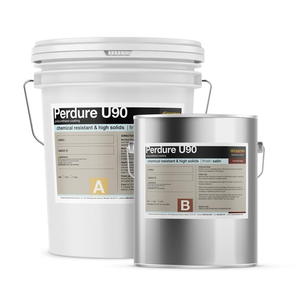 Perdure U90 chemical resistant, high solids polyurethane coating (Gloss or Satin)