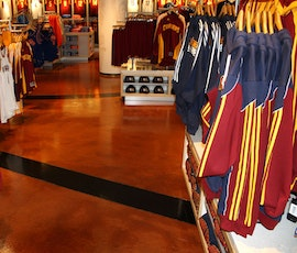 Merchandise on display in the Cleveland Cavaliers Team Shop. (thumbnail)