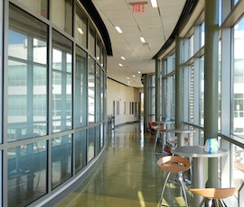 This resurfaced concrete floor at Southern Connecticut State University (SCSU) compliments the modern style of the building. (thumbnail)