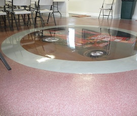 Garage floor epoxy coatings are ideal for meeting rooms as they offer protection and from and easy clean up of spills and liquids. (thumbnail)
