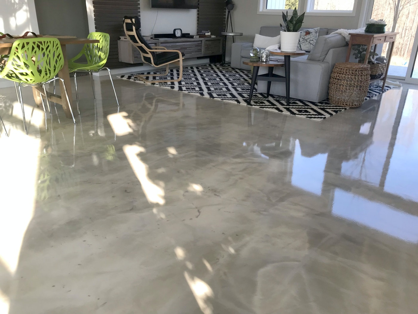 Diy Metallic Epoxy Flooring Over Gypsum Underlayment For Your Home