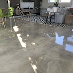 DIY: Homeowner Installs Designer Metallic Epoxy Floor Coating Throughout Home. ex. 2