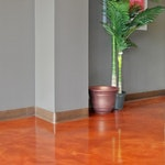 Image of metallic epoxy flooring in a chiropractic clinic 03