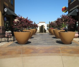 Retail lifestyle centers utilize exterior concrete overlays to beautify their outdorr areas, and protect them from massive foot traffic. (thumbnail)