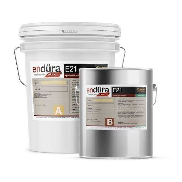 Endura E21 100% solids pigmented epoxy floor coating