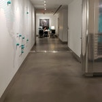 """Polished concrete floor in an aisle way. Tiffany & Co. """"pop-up"""" store in NYC."""