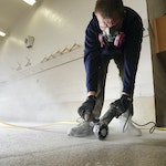 Repairing the floor in a firestation 01